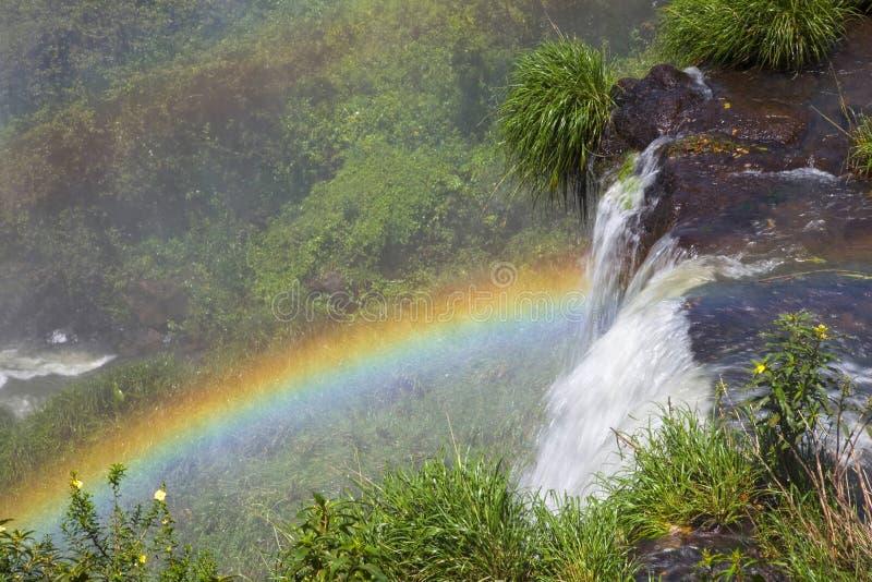 Arco iris, las cataratas del Iguazú, la Argentina, Suramérica imagen de archivo