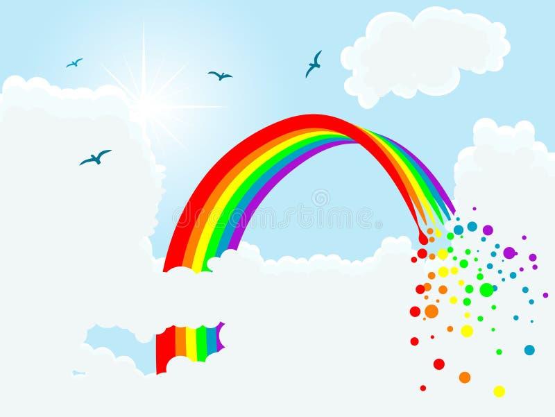 Arco iris mágico stock de ilustración