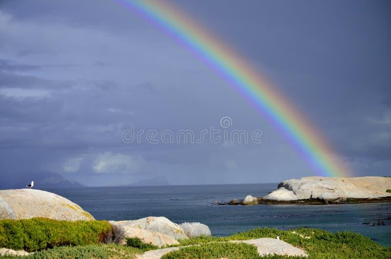 Arco iris mágico en Cape Town fotografía de archivo