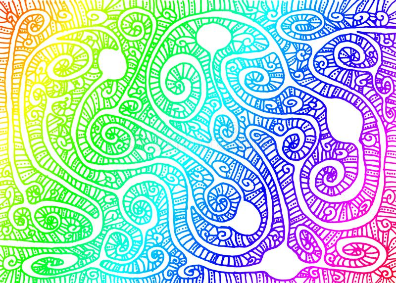 Arco iris Maze Wallpaper Background libre illustration