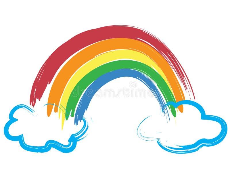Arco iris pintado libre illustration