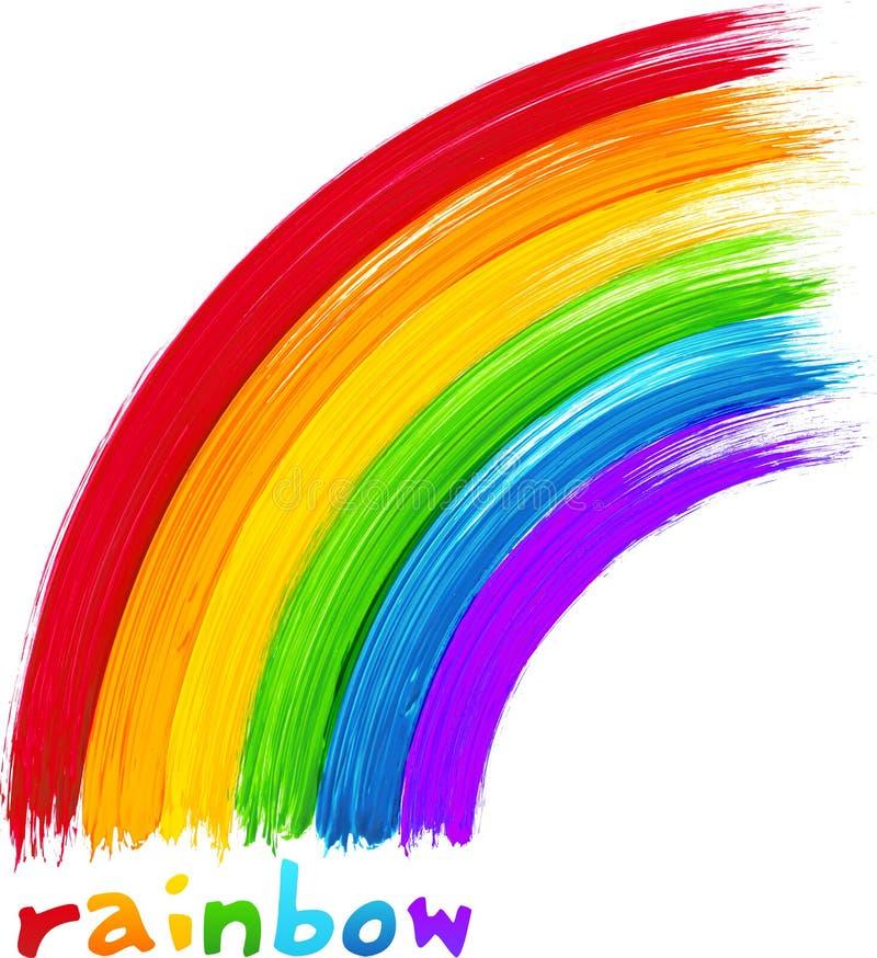 Arco iris pintado acrílico, imagen del vector libre illustration