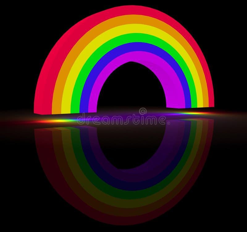 Arco iris que brilla intensamente stock de ilustración