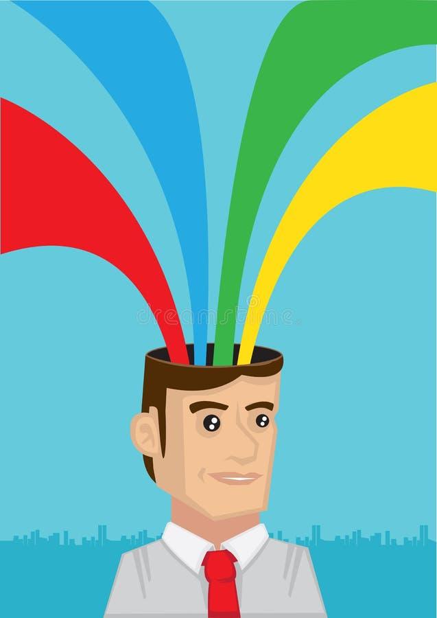 Arco iris que sale del ejemplo principal del vector ilustración del vector