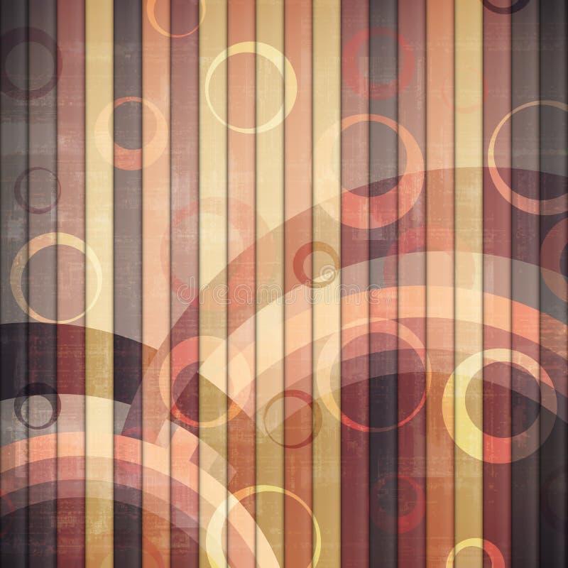 Arco iris retro stock de ilustración