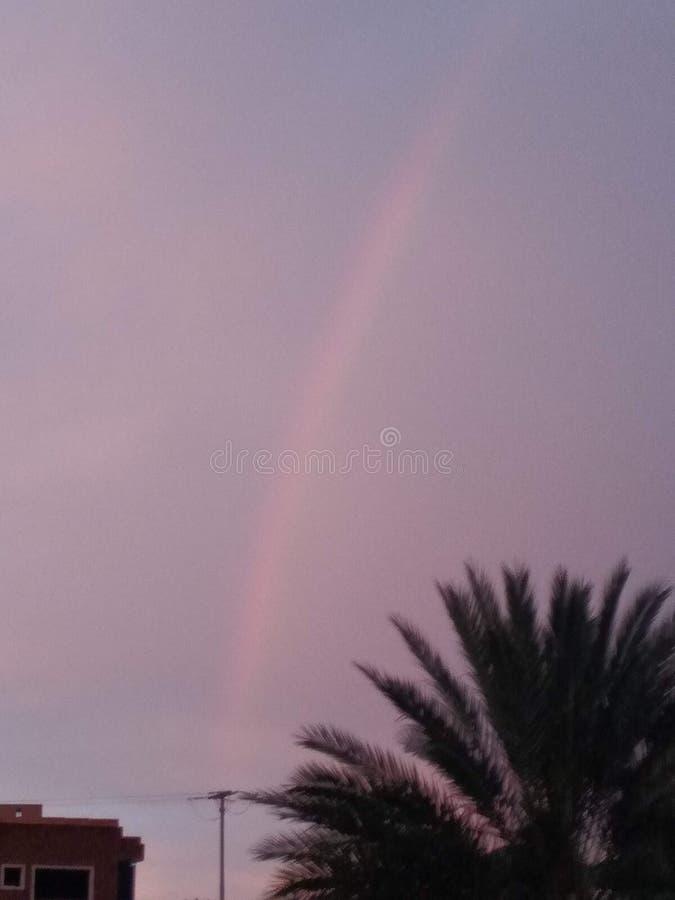 Arco iris sangriento foto de archivo