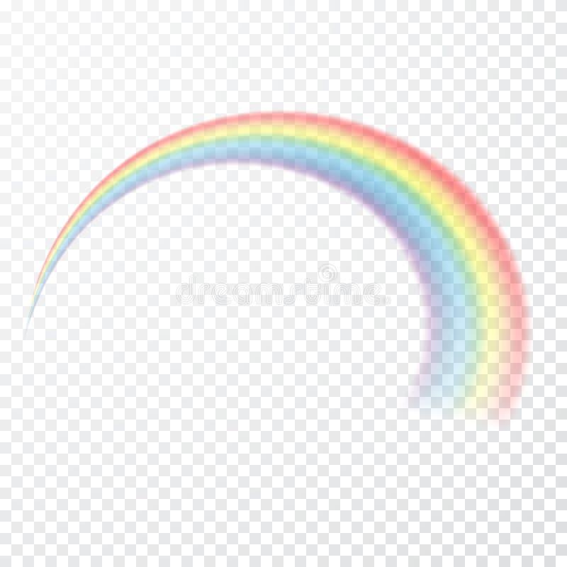 Arco iris transparente Ilustración del vector Raibow realista en fondo transparente stock de ilustración