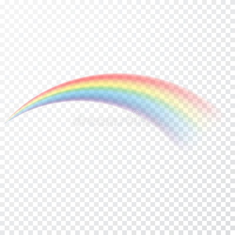 Arco iris transparente Ilustración del vector Raibow realista en fondo transparente ilustración del vector