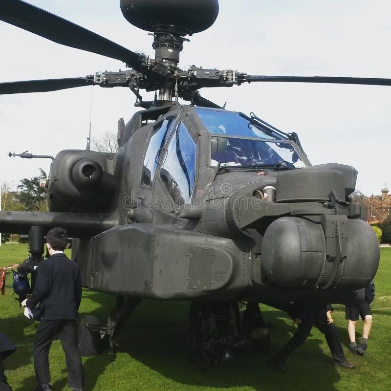 Arco longo de Augusta-Westland AH-64 Apache imagem de stock royalty free