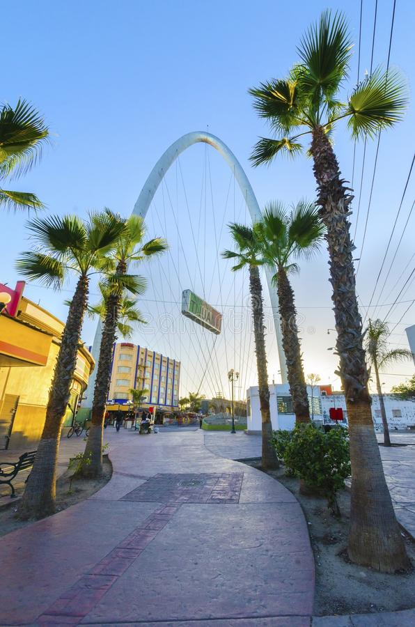 Arco monumental, Tijuana, México imagem de stock