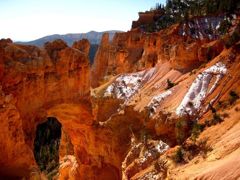 Arco naturale del canyon di Bryce fotografie stock libere da diritti