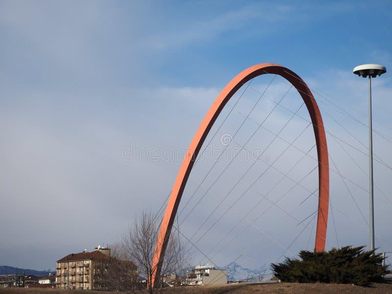 Arco Olimpico (arco olimpico) a Torino fotografia stock
