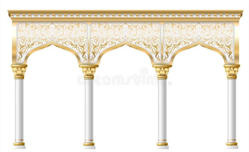 Arco oriental feericamente ilustração stock