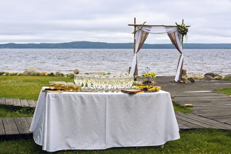 Arco para la boda fotografía de archivo libre de regalías