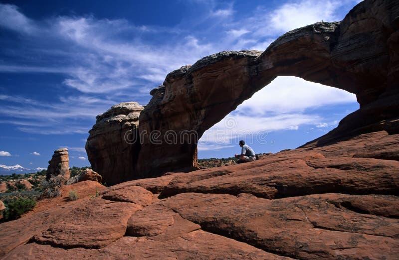 Arco quebrado, parque nacional de los arcos fotos de archivo libres de regalías