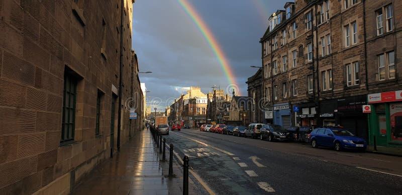 Arco-?ris em Edimburgo imagens de stock royalty free
