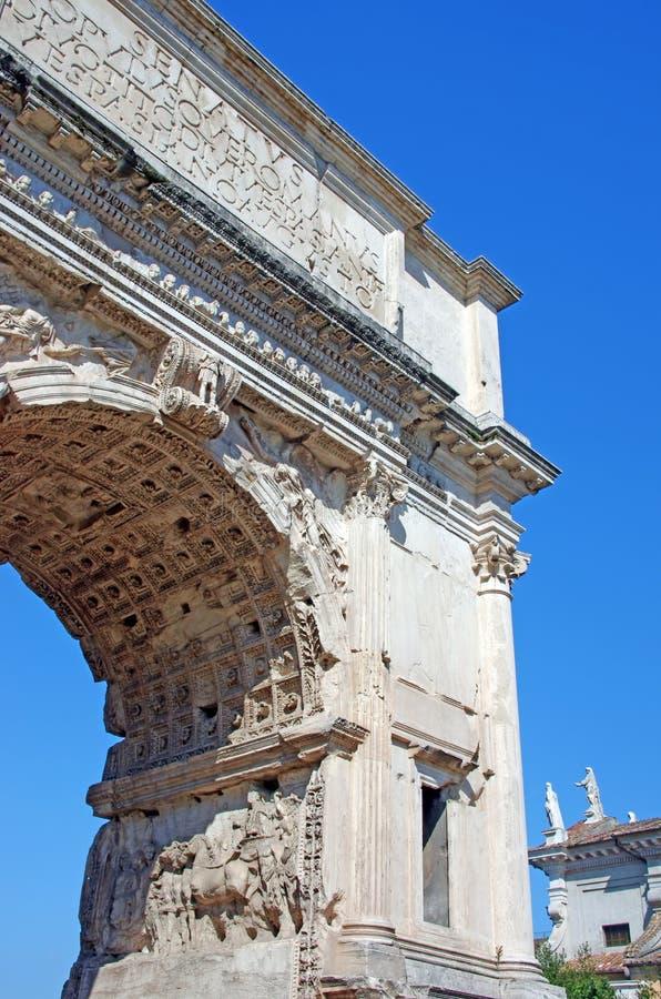 Arco romano antico fotografia stock
