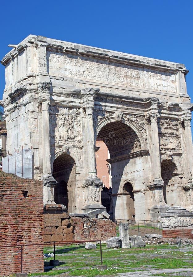 Arco romano del trionfo immagini stock