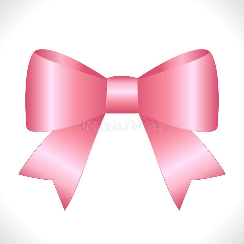 Arco rosado brillante del regalo del satén del vector stock de ilustración