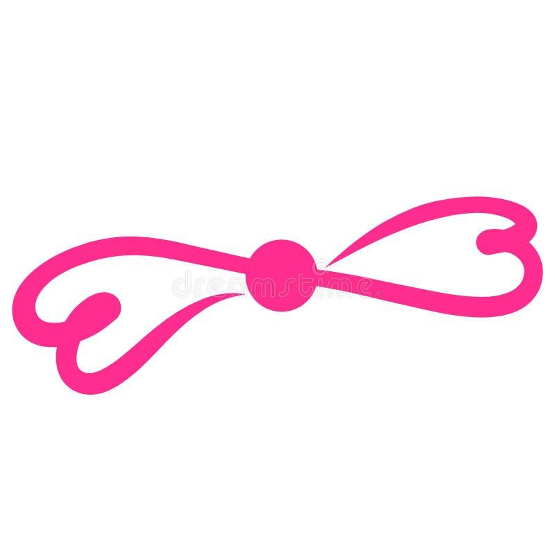 Arco rosado de corazones, decoración, muestra romántica del infinito ilustración del vector