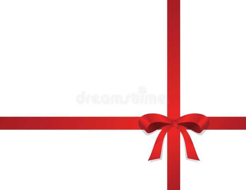 Arco rosso su priorità bassa bianca royalty illustrazione gratis