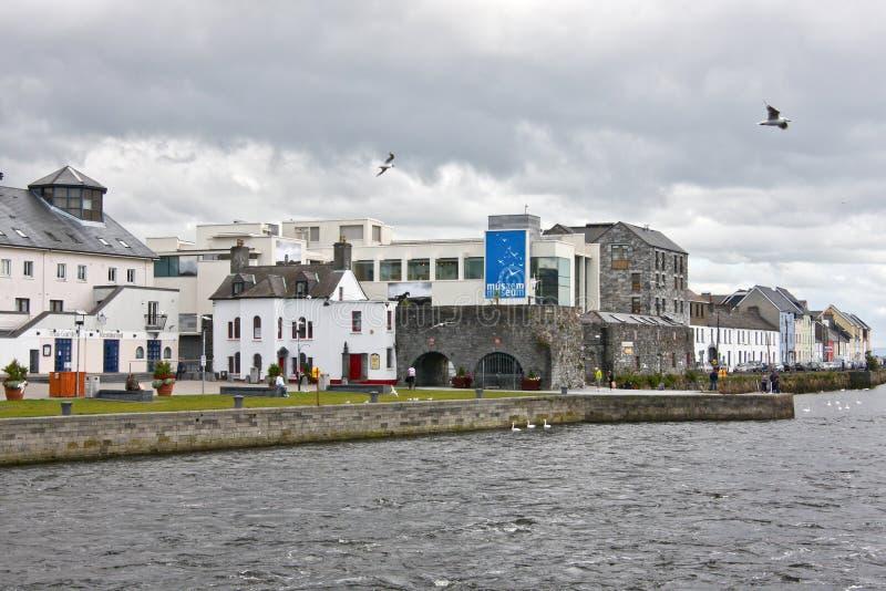 Arco spagnolo, casa del museo della città di Galway, vicino al fiume Corrib, città di Galway, contea Galway fotografia stock libera da diritti