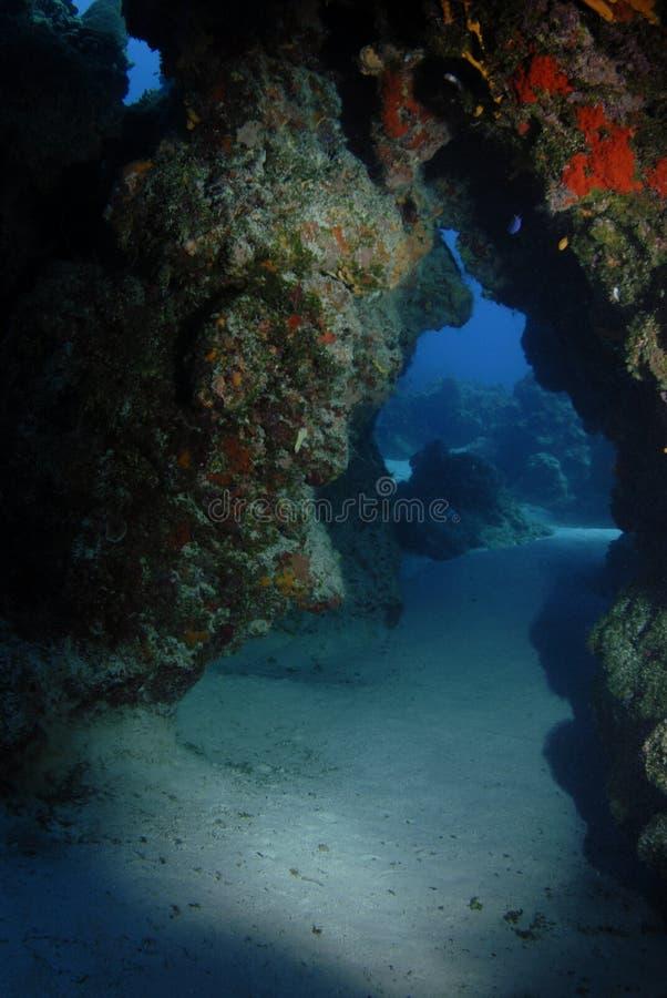 Arco subacqueo immagine stock