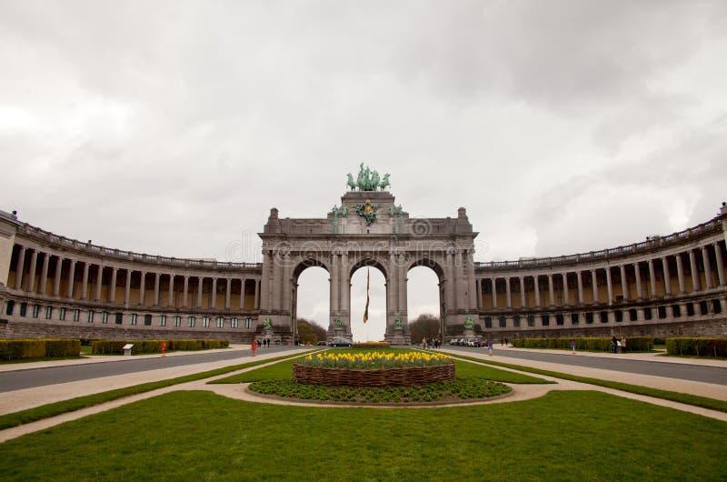 Arco trionfale a Bruxelles fotografia stock