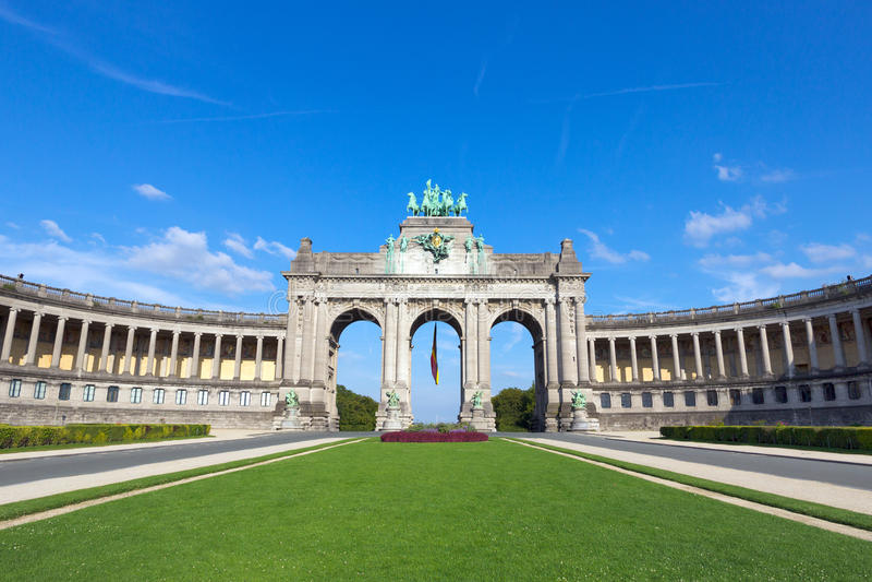 Arco trionfale - Bruxelles immagine stock libera da diritti