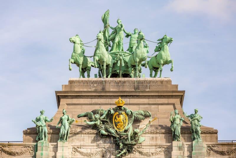 Arco trionfale di Bruxelles fotografia stock