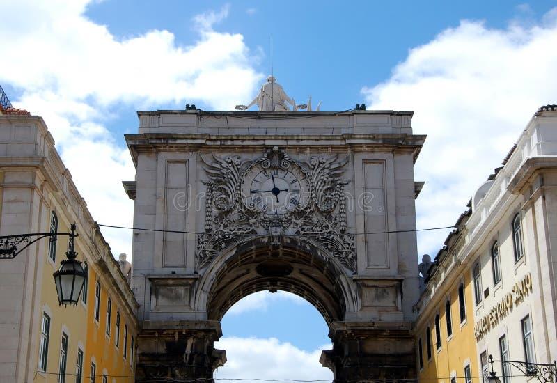 Arco trionfale a Lisbona fotografie stock