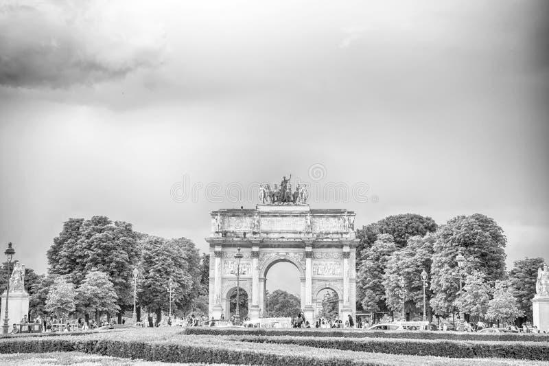 Arco triunfal Arc de Triomphe du Carrossel imagem de stock