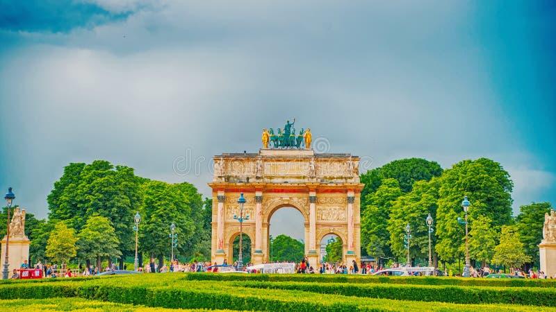 Arco triunfal Arc de Triomphe du Carrossel foto de stock