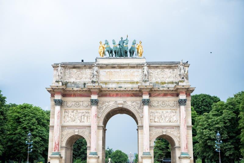 Arco triunfal Arc de Triomphe du Carrossel fotos de stock royalty free