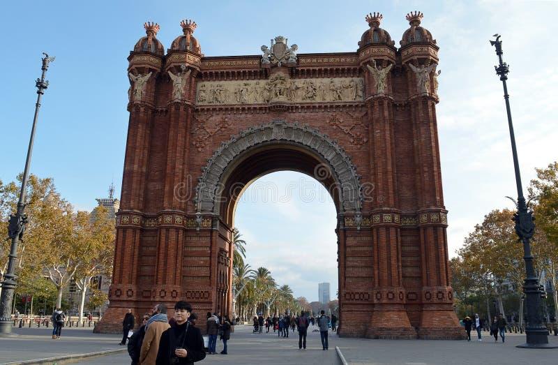 Arco triunfal, Barcelona fotografia de stock