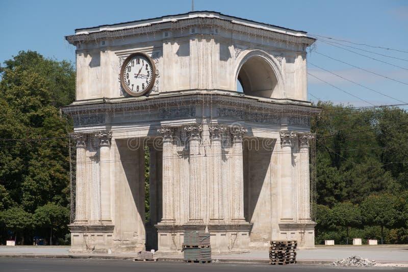 Arco triunfal Chisinau fotografía de archivo libre de regalías
