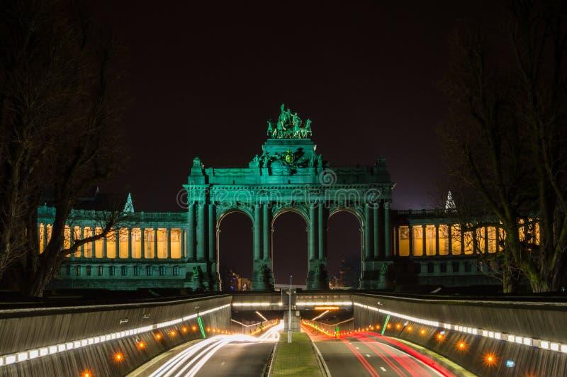 Arco triunfal de Bruxelas fotos de stock