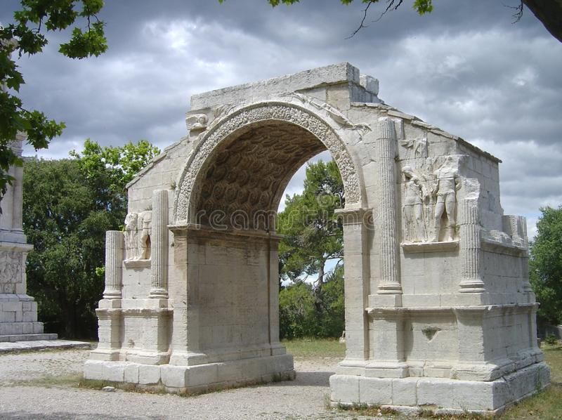 Arco triunfal de Glanum fotos de stock royalty free