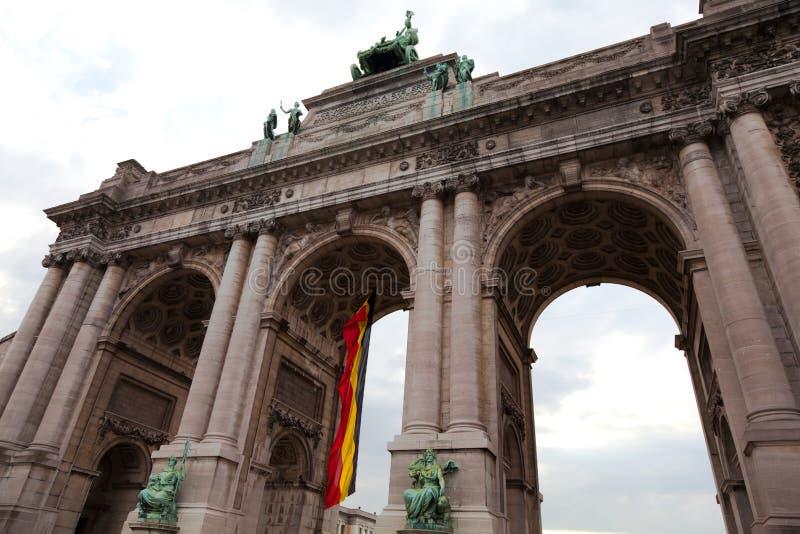 Arco triunfal en Bruselas fotografía de archivo libre de regalías