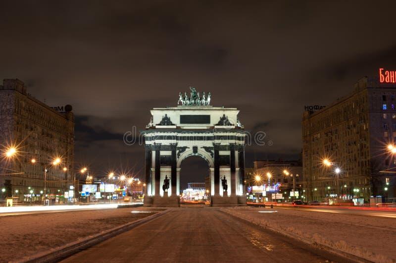 Arco triunfal en Moscú fotos de archivo libres de regalías