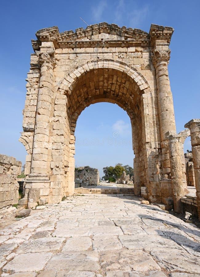 Arco triunfal, neumático, Líbano imágenes de archivo libres de regalías