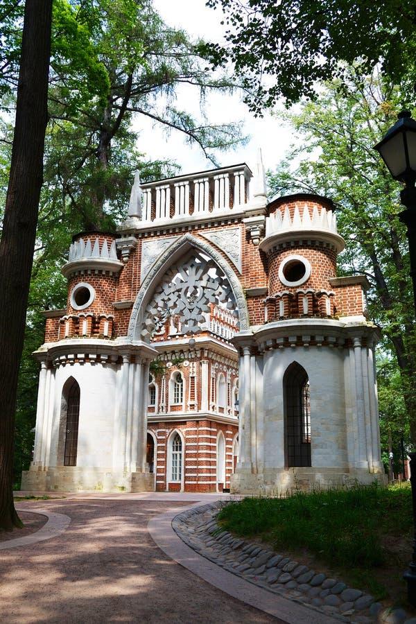 Arco in Tsaritsino, Mosca immagine stock