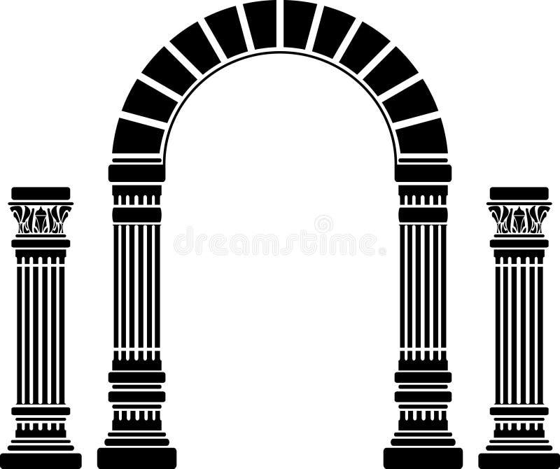 Arco y columnas de la fantasía libre illustration