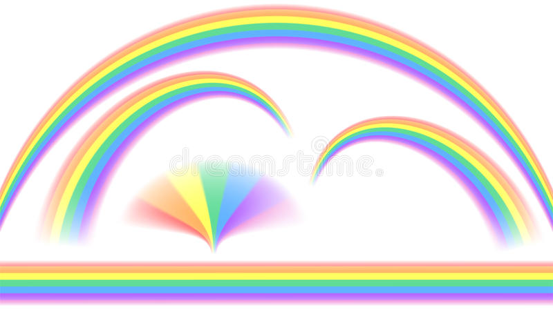 Arcobaleni nella forma differente illustrazione vettoriale