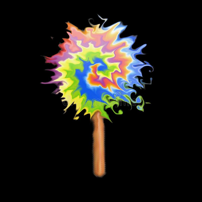 Arcobaleno acrilico di arte immagini stock libere da diritti