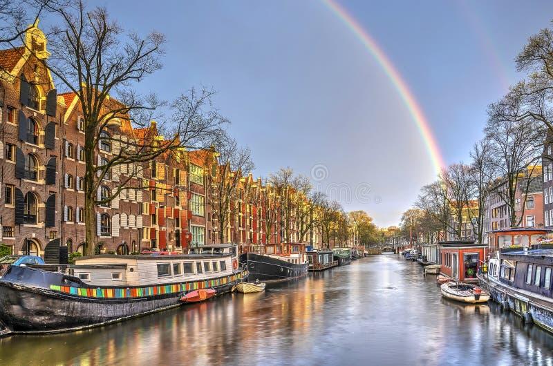 Arcobaleno a Amsterdam fotografia stock