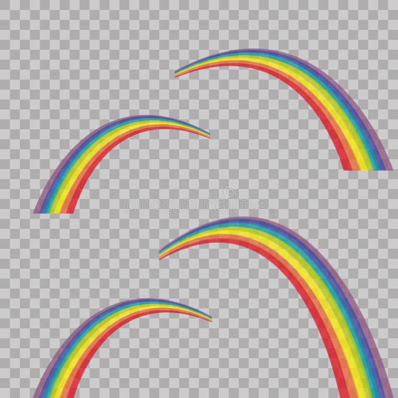 Arcobaleno astratto colorato su fondo trasparente Illustrazione di vettore Struttura astratta alla moda moderna Modello per la st illustrazione vettoriale