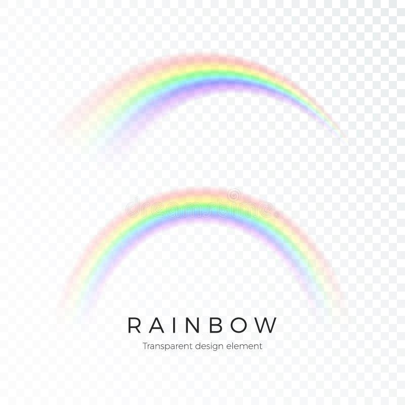 Arcobaleno astratto di colore Spettro di progettazione di arte di fantasia di luce, sette colori Illustrazione di vettore isolata royalty illustrazione gratis