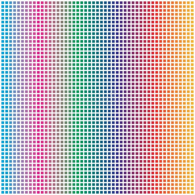 Arcobaleno astratto Dots Pattern Background quadratico quadrato variopinto illustrazione di stock