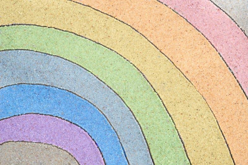 Arcobaleno che assorbe sabbia immagini stock